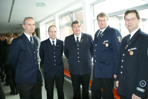 Manfred Rotering; Christian Wenning; LdF Bernhard Nienhaus; stV LdF Helmut Tenspolde; Thomas Berski