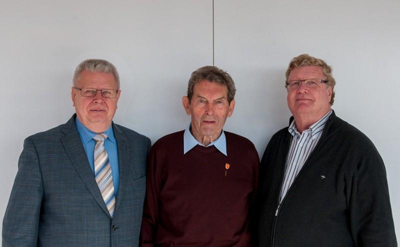 v.l.n.r. Paul Berski, Wilhelm Böing, Bernhard Scherer